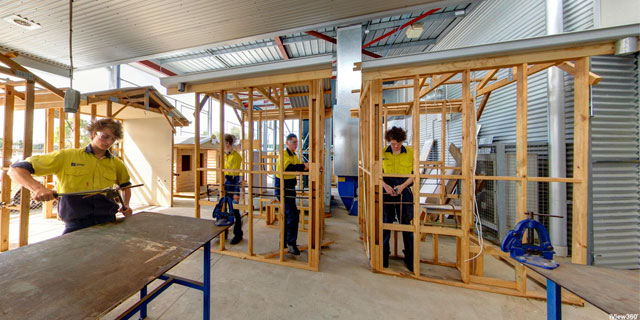 St Patrick's Technical College - Plumbing outdoor classroom