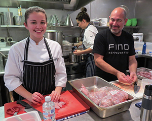 Maddie with Fino Owner / Executive Chef, David Swain.
