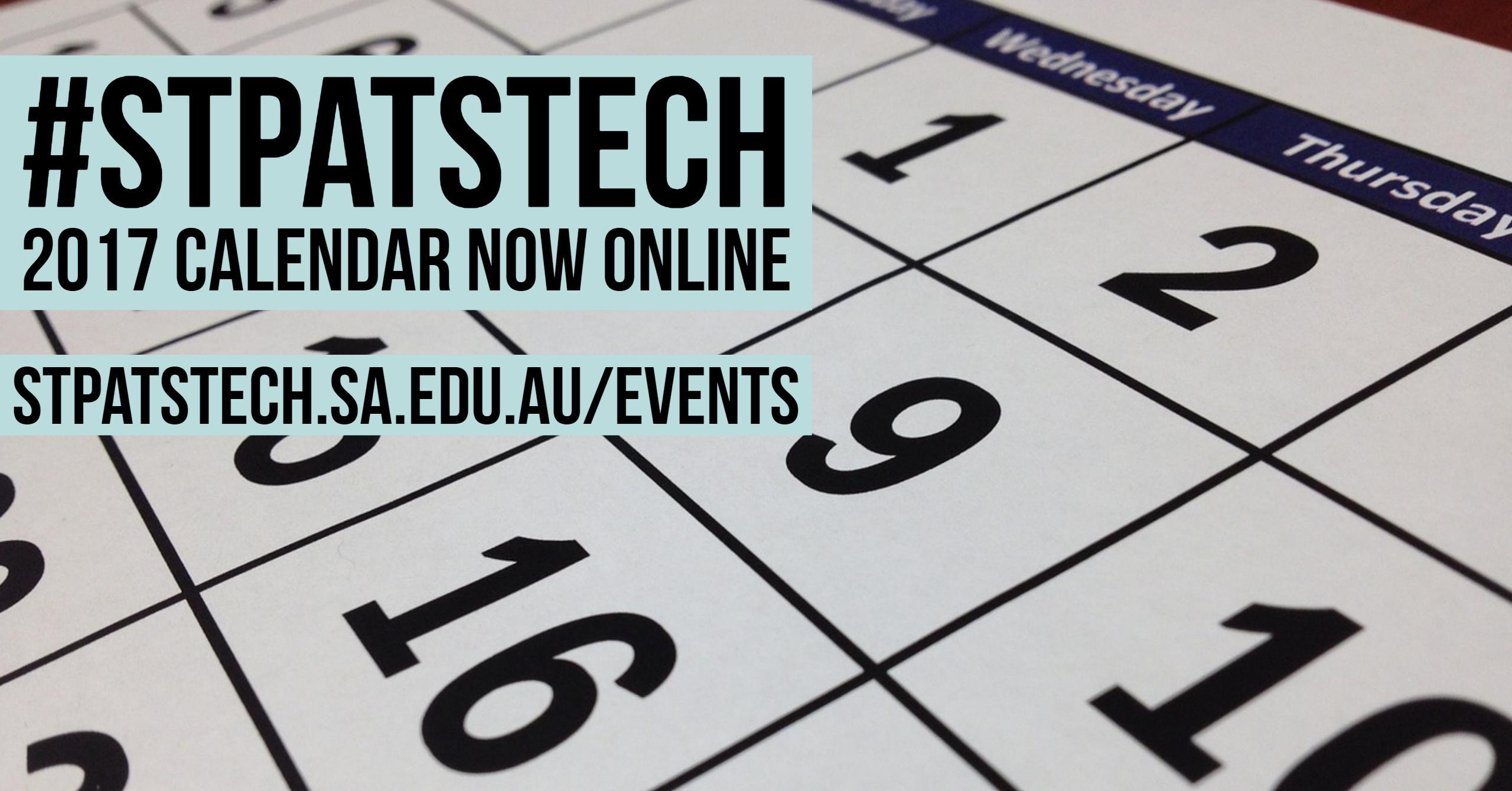 2017 College Calendar - St Patrick's Technical College
