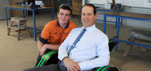 Jack with Principal Danny Deptula.