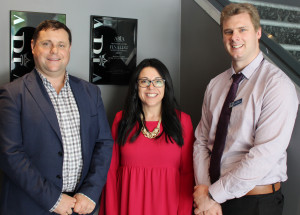 Skilling Australia Foundation Chair Andrew Sezonov with Northern Adelaide P-TECH Partnerships Industry Liaison Officer Toni Hartley and incoming of the Northern Adelaide P-TECH Partnership Steering Committee Brad Sheridan. Mr Sheridan is the Head STEM teacher at St Patrick's Technical College.