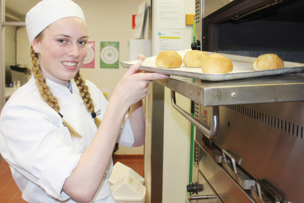 Food and Hospitality Student Maddylin Pilkington prepares for the 2019 Lexus Melbourne Cup Tour which will stop at St Patrick's Technical College on September 25.